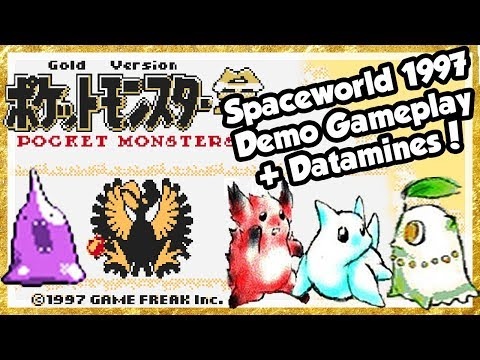 POKÉMON GOLD Spaceworld-Demo 1997 Gameplay + Datamine Cancelled Pokémon & Lost Region!