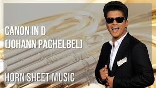 EASY Horn Sheet Music: How to play Just The Way You Are by Bruno Mars