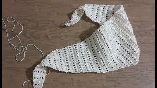 Şal Modeli Yapımı Part 1 , Tığ işi Örgü Kalpli Şal Modeli & Crochet wrap