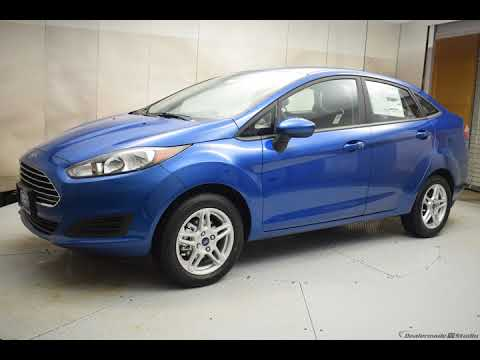 2018 Lightning Blue Metallic Ford Fiesta 4D Sedan #7121