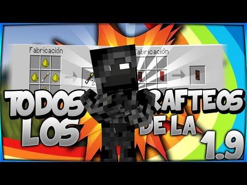 Todos Los Crafteos De La 1.9 Minecraft - Crafting 1.9 Minecraft