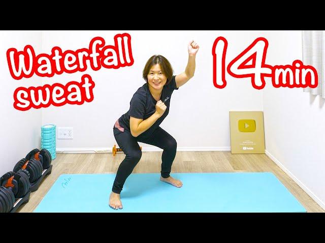 [滝汗ハーフ] 45歳主婦の45歳主婦よる45歳主婦のための痩せる運動![Waterfall sweat half] Workout for the middle age