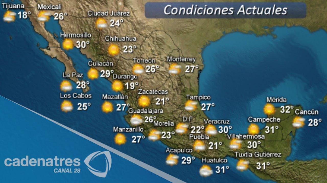 Clima para hoy 01 de abril clima del d a youtube - Temperatura actual ferrol ...