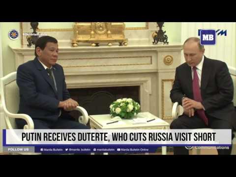 Putin receives Duterte, who cuts Russia visit short