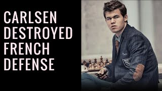 Magnus Carlsen destroyed French Defense || ChessMusic || PedoneIsolato