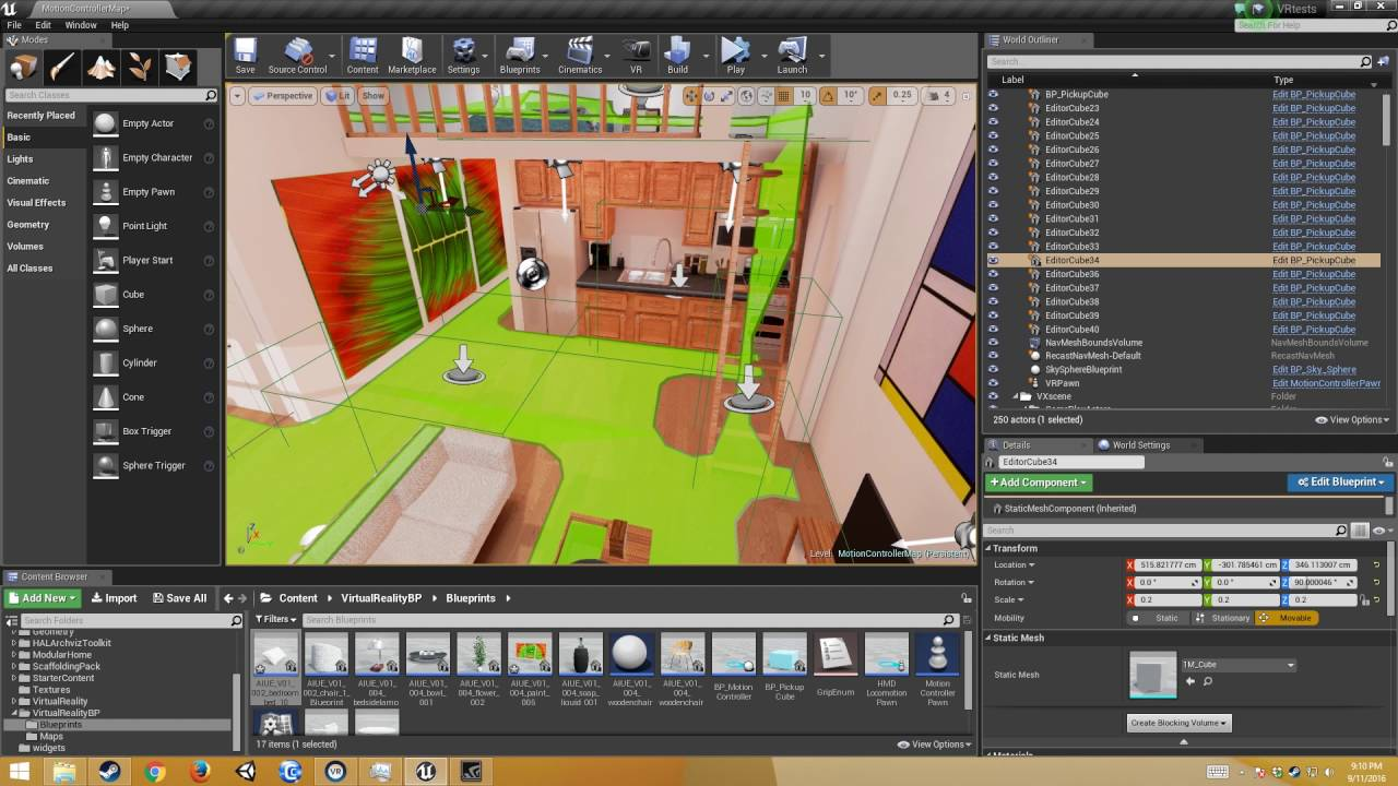 Unreal 4 13 VR Tutorial - Picking up New Objects