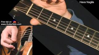 HAVA NAGILA: Acoustic Guitar Lesson + TAB by GuitarNick
