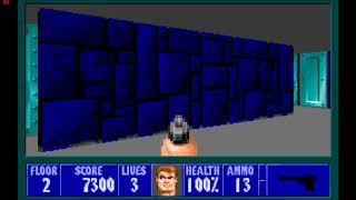 Wolfenstein 3D - Episode 1 - Floor 2 - ( PC DOS )