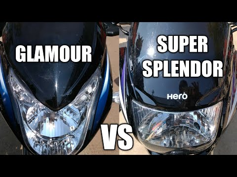 HERO GLAMOUR VS SUPER SPLENDOR 2018