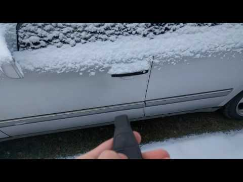 Mercedes Benz E300td S210 W210 cold start -4°C