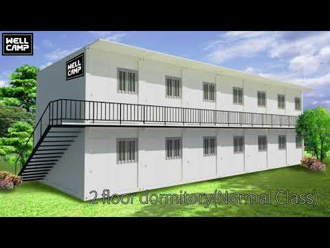 WellCamp Prefab House New Flat Pack Detachable Container House for Sale