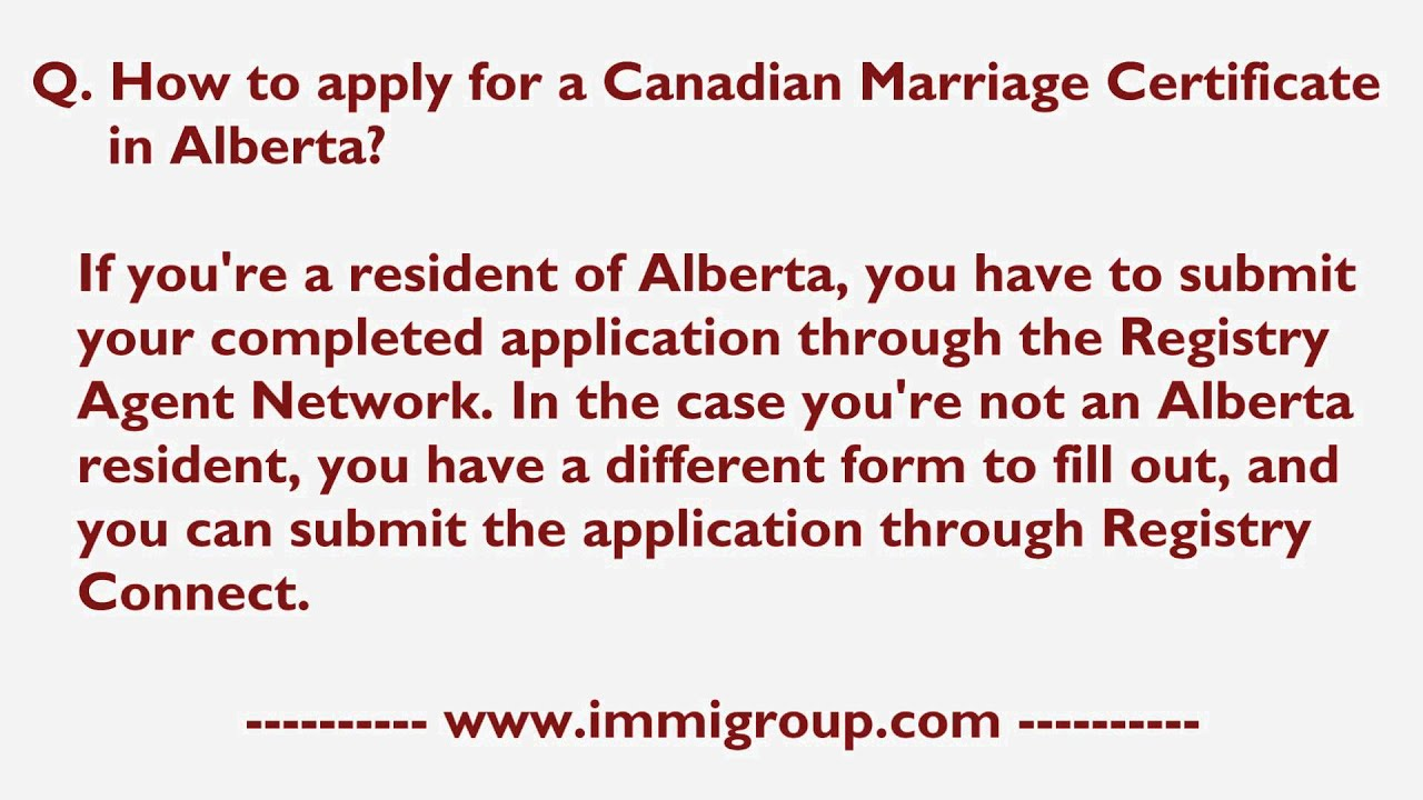 How to apply for a canadian marriage certificate in alberta youtube how to apply for a canadian marriage certificate in alberta aiddatafo Choice Image
