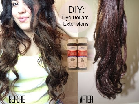 Diy Dying Bellami Hair Extensions Youtube