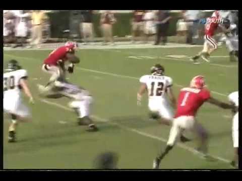 Knowshon Moreno jumps over Central Michigan defender
