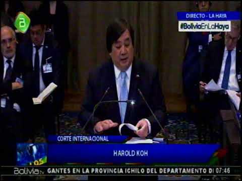 Alegatos en La Haya Chile Dia 2: Harold Hongju Koh