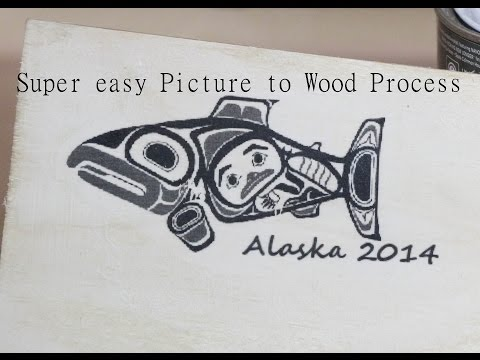 How to transfer an image or picture to wood.  Easy and fun DIY Wooden Picture