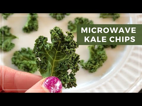 3 Minute Microwave Kale Chips