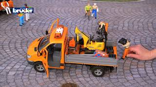 MB Sprinter Kommunal mit Fahrer und Zubehör -- 02537 -- Bruder Spielwaren