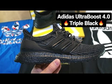 sneakers for cheap acb3a b86bc Adidas UltraBoost 4.0 'Triple Black' Unboxing & On Feet