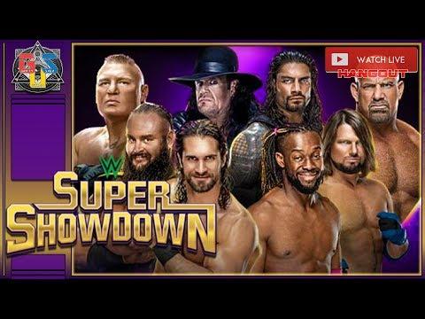 Wwe super showdown time live stream