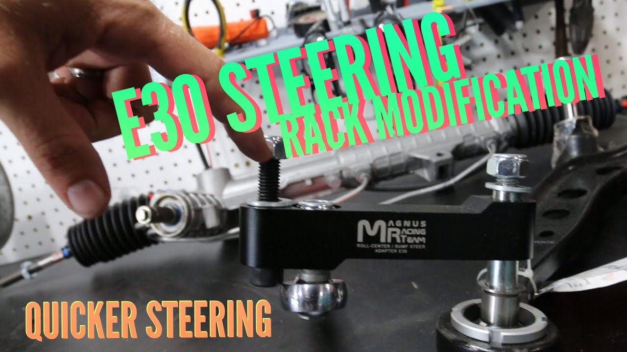 E30 Bmw Z3 Power Steering Rack Conversion Part 1 Youtube