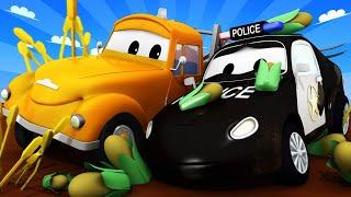 Автомойка Эвакуатора Тома - Полицейский Мэт 2 - Автомобильный Город 💧 детский мультфильм