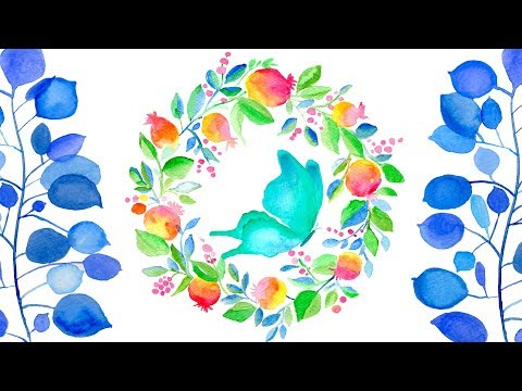 Relaxing Watercolor Compilation - Easy Painting Ideas For Beginners \ ASMR  Satisfying Art
