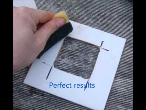 How To Drill A Square Hole Into A Tile Drilling With
