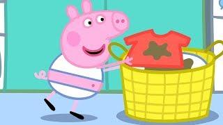Peppa Pig Nederlands Compilatie Nieuwe Afleveringen 🧺 Wassen | Tekenfilm | Peppa de Big
