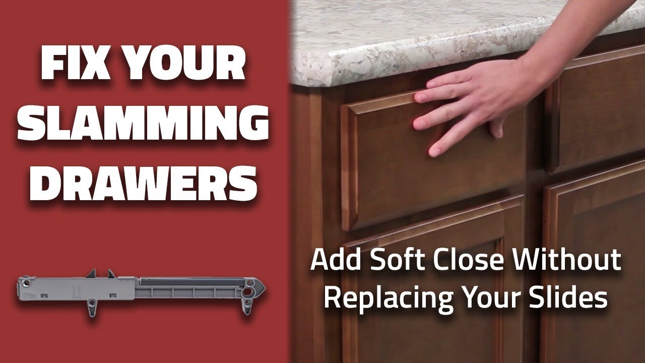 Fix Your Slamming Drawers How To Add Soft Close Without Replacing Slides Quick Tips From Tiff 6 Youtube
