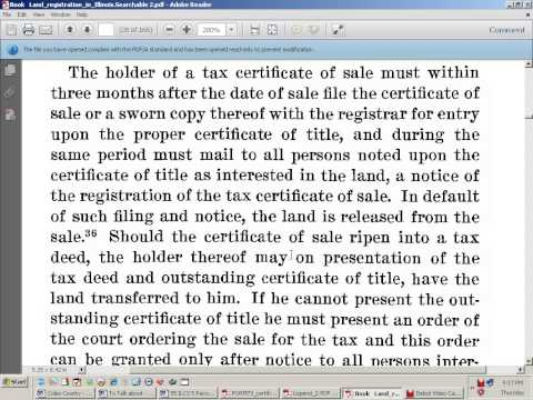 Owners Certificate of Title Part 1