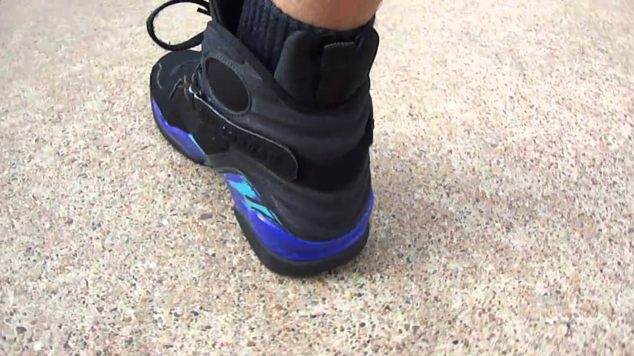 ff434db358ee Nike Air Jordan VIII (8) retro Aqua s on feet - YouTube