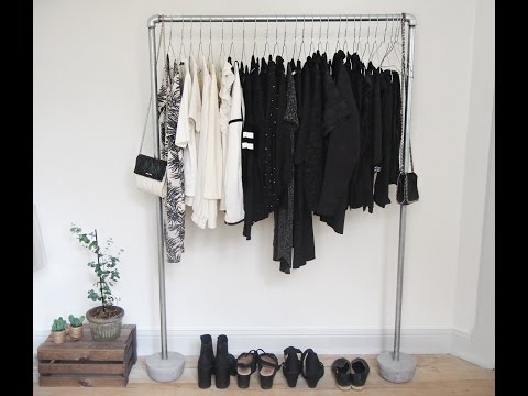 DIY - How to make a pipe clothing rack with concrete!