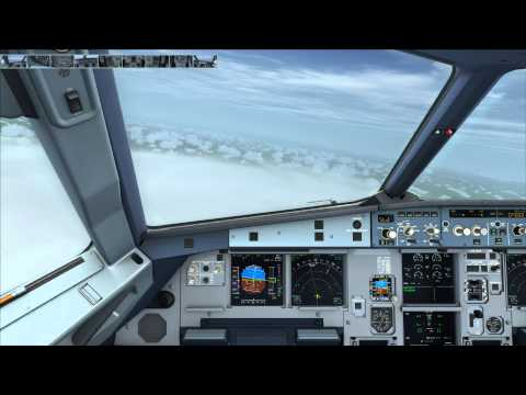 FSX | Realistic | EGKK Gatwick to LSZH Zurich | Aerosoft A319 | Part 3 - Descent and Approach