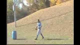 Russell Wilson Uphill 37 step Quarterback drop drill.