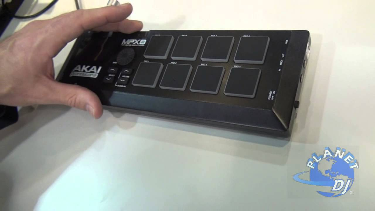 Akai Professional MPX8 SD Sampler With MPC Pads - YouTube