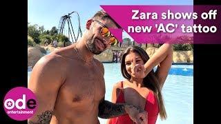 FIRST LOOK: Love Island's Zara shows off her 'AC' tattoo for boyfriend Adam