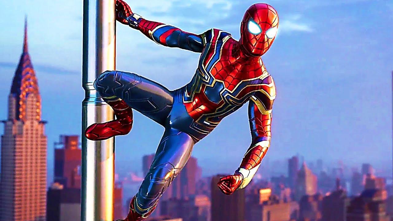 Spider Man 3d Live Wallpaper Pc Spider Man Iron Spider Suit Trailer 2018 Ps4 Youtube