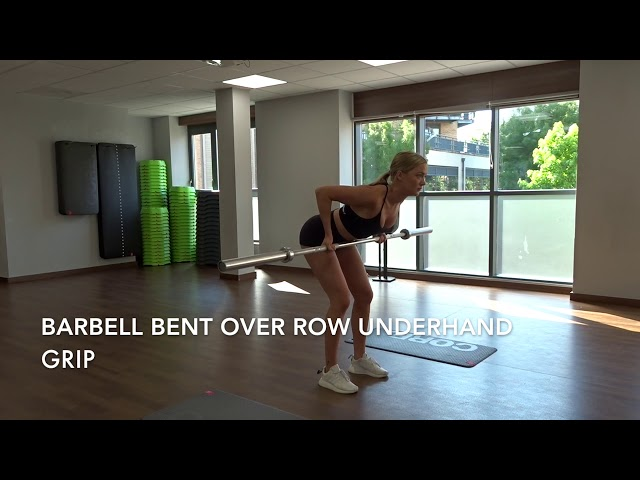 Barbell Bent Over Row Underhand Grip