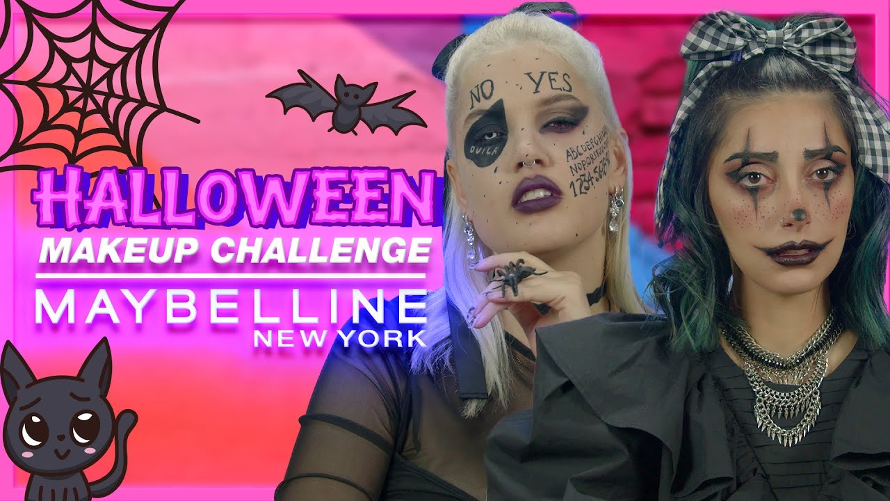 HALLOWEEN MAKEUP CHALLENGE ft. i Mikri Ollandeza & Fosbloque | Maybelline NY Greece
