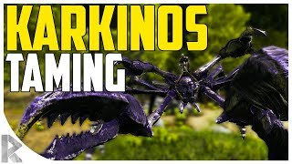 KARKINOS TAMING (GIANT CRAB)! - How to Tame Karkinos - Ark Aberration Expansion Pack DLC EP#10