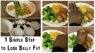 Lose Belly Fat with Portion Control Tips (Control Yr Dinner Plate Size)
