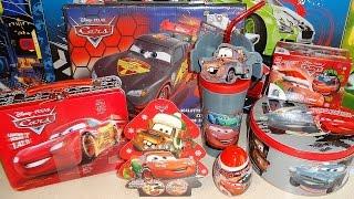 Disney Cars & Planes Collectors Tins Set + Surprise Eggs & Box Unboxing