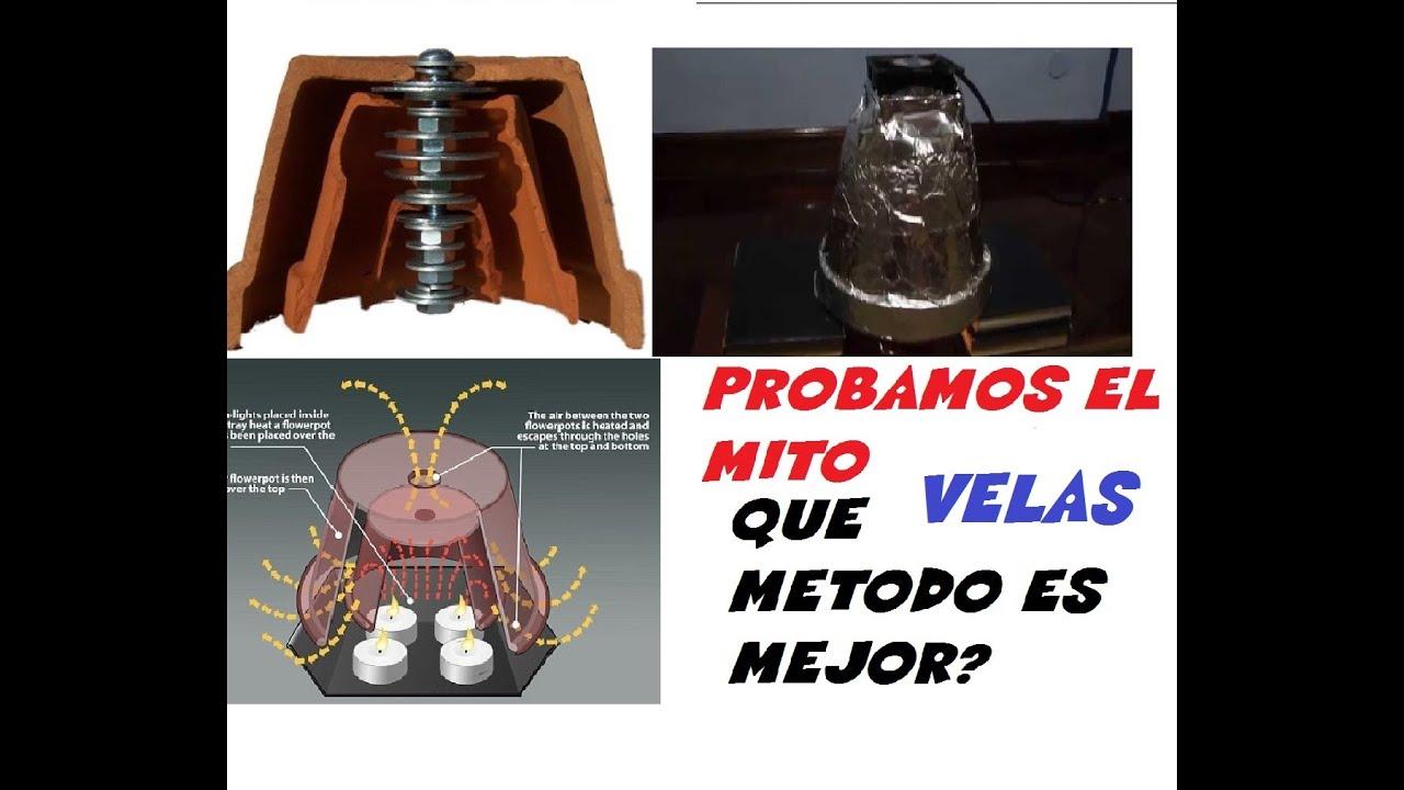Calefaccion experiencia estufa casera barata low cost bajo - Calefaccion con velas ...
