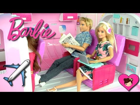 barbie-&-ken-airplane-travel-routine---holiday-hotel-vacation---titi-dolls
