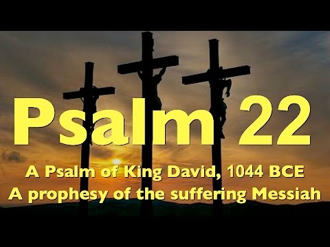 messiah in psalm 22 essay A list of the messianic psalms psalm 2 psalm 8  from his own direct experience and to present the messiah apart from himself (eg, psalm 22:16–18).