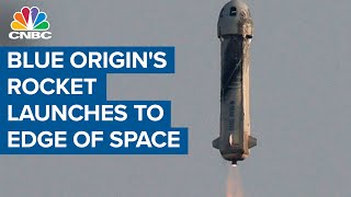 Blue Origin's rocket launches to edge of space, carrying Jeff Bezos and crew