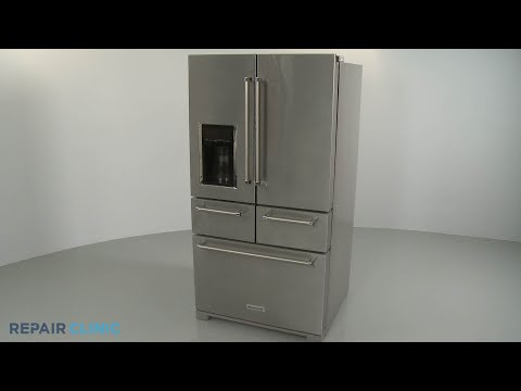 KitchenAid 5 Door Refrigerator Disassembly (Model KRMF706ESS01)