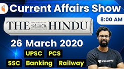 8:00 AM - Daily Current Affairs 2020 by Bhunesh Sir   26 March 2020   wifistudy
