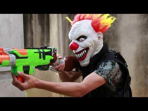MASK Nerf War : Special Police Warrior Nerf Guns Fight Crime Group Mask  